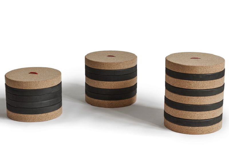 Toronto sgabello in sughero per bambini di made design barcellona