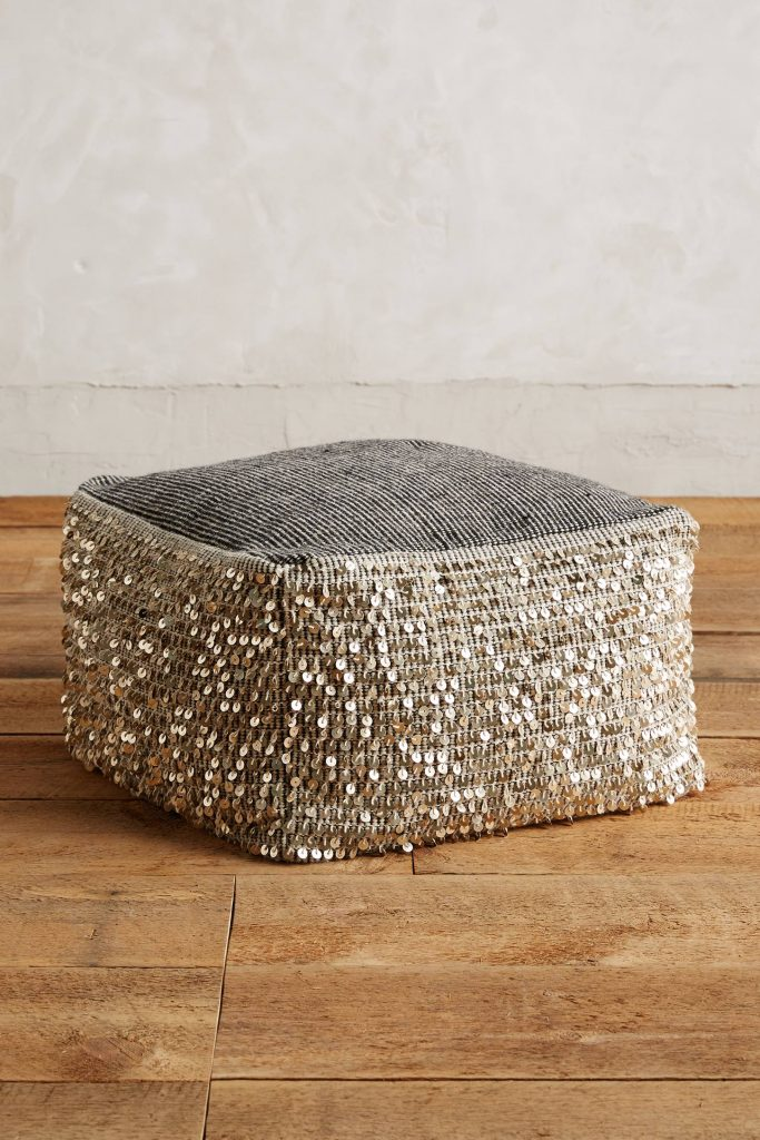 Paillette Pouf Anthropologie40 Architettura E Design A Roma Inspiration Anthropologie Pouf