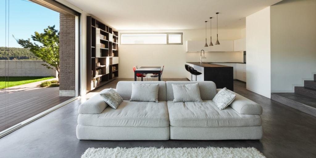 divano-per-arredare-cucina-soggiorno - Architettura e design ...