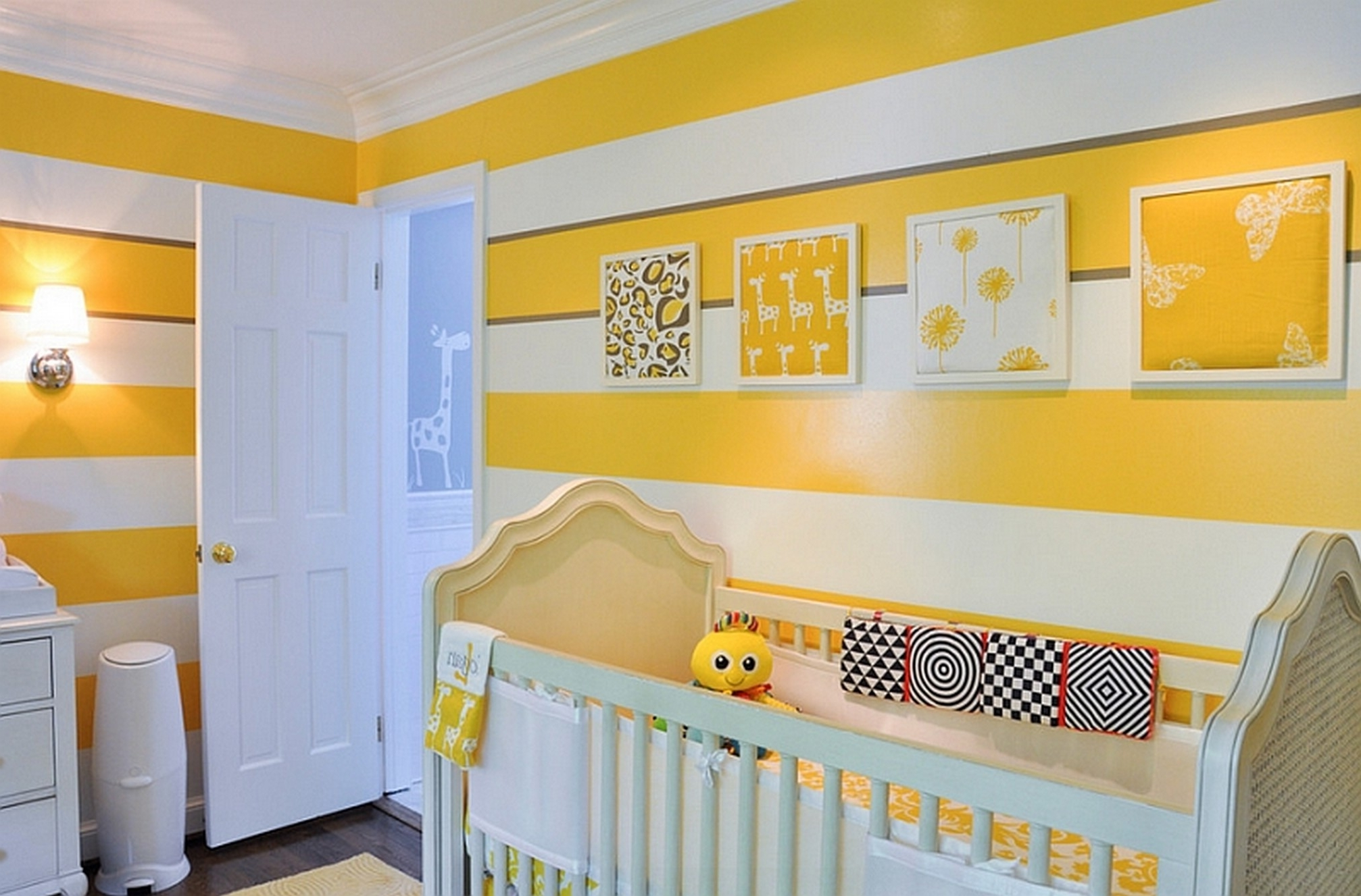 Bedroom Yellow Wall Paint For Ba Nursery Decorating Ideas With with ...