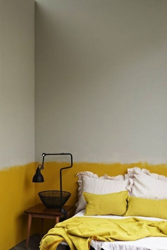 camera da letto pareti-gialle-grigio-533x800 - Architettura ...