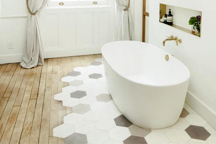 Rinnovare il bagno tendenze bagno 2018 architettura e - Piastrelle esagonali cucina ...