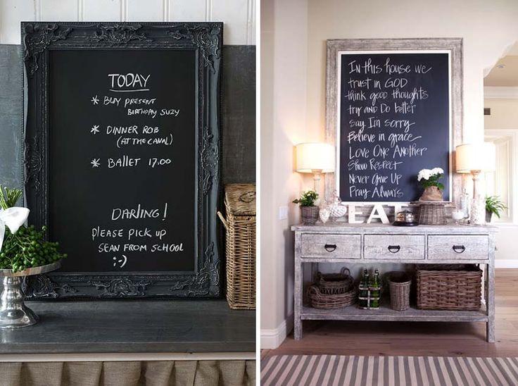 Parete Di Lavagna In Cucina : Sette idee semplici ed originali per decorare le pareti di casa
