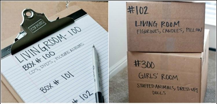lita e scritte sui pacchi