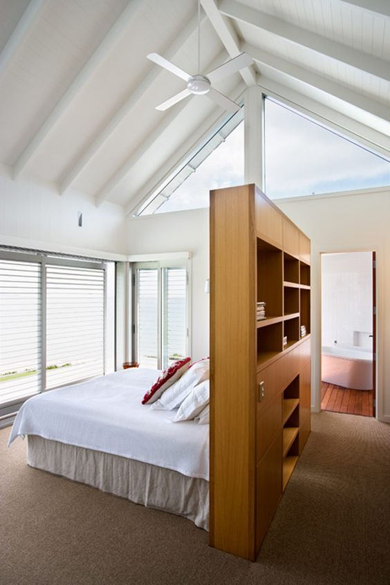 cabina armadio dietro al letto