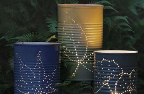 Lampada Barattolo Di Latta : Lampada lanterne fai da te con barattoli di latta architettura e