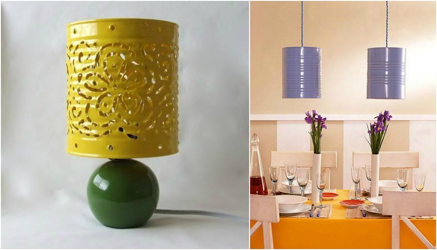 Lampada Barattolo Di Latta : Lampada riciclo barattoli in latta architettura e design
