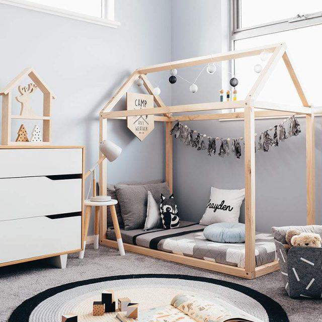 Stile nordico per i letti a casetta - image Toddler-House-Base-Frame-e1539257144333 on http://www.designedoo.it