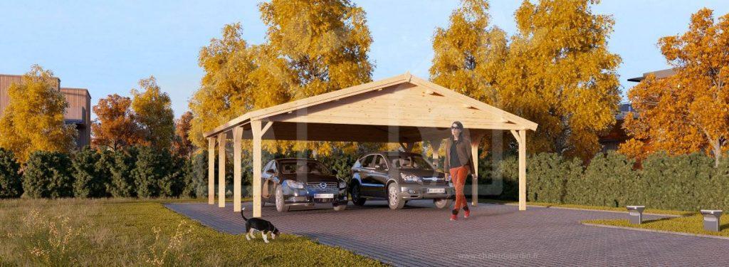 tettoia di legno