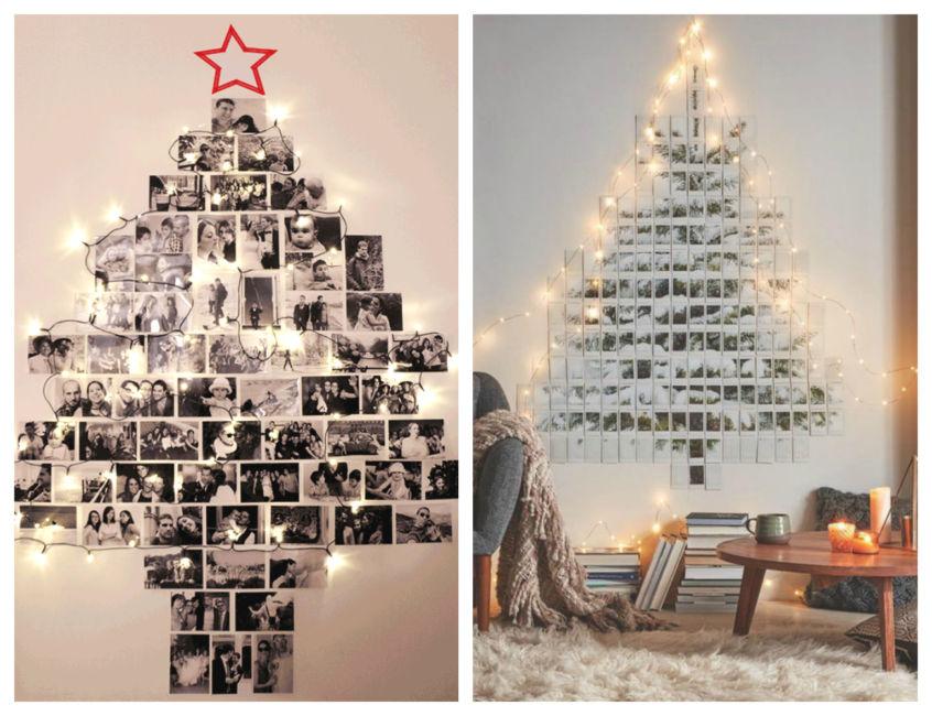 Albero Di Natale Con Le Foto.Albero Di Natale Con Foto E Lucine Da Parete Architettura E Design A Roma