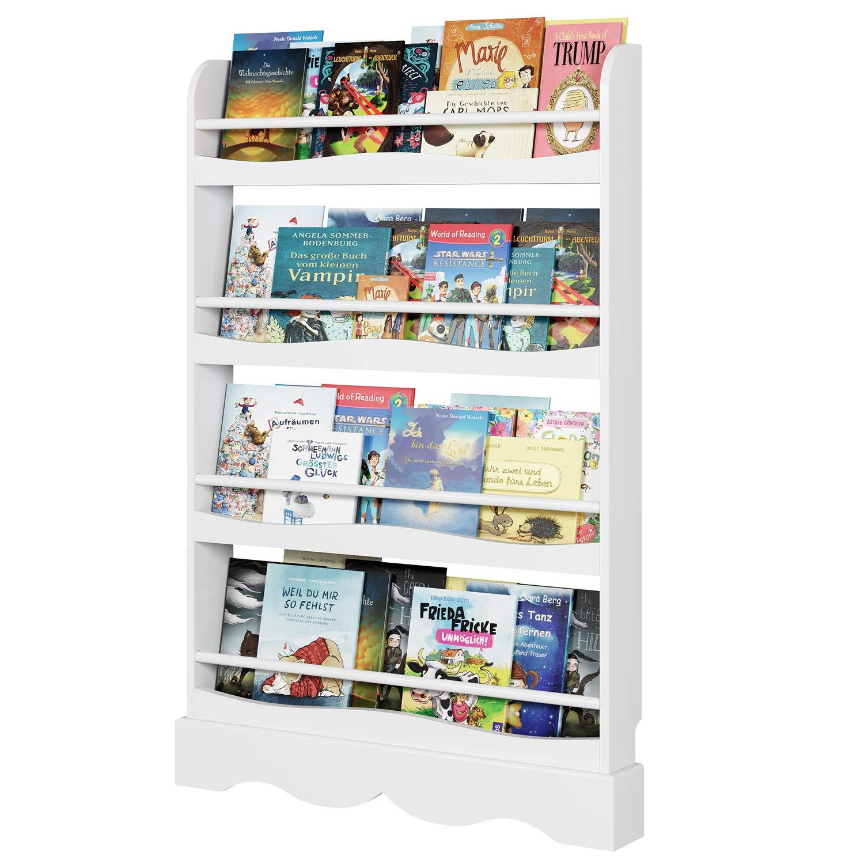Rosa Homfa Libreria per Bambini Portariviste per Bambini Libreria e Portagiocattoli,Scaffale con cassetto 2 Scomparti 3 Scomparti pensili,Mobile Portariviste con 2 Carrelli Giocattolo