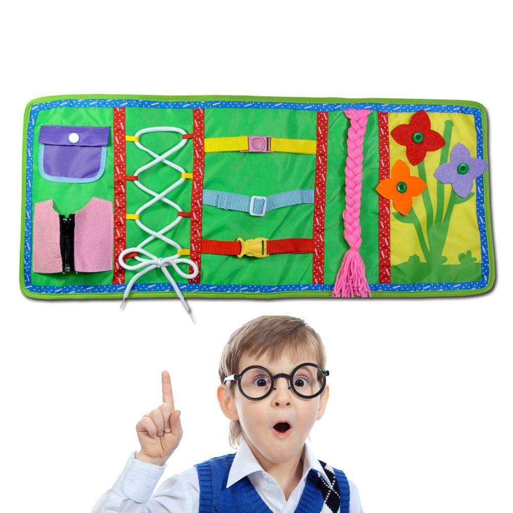 La cameretta si trasforma in una magica città - image amazon-Womdee-Baby-Busy-Board-Montessori-Toys-for-Early-Learning-Basic-Life-Skills-Libro-sensoriale-educativo-con-Cerniere-Bottoni-Fibbie-trecce-per-Bambini-Toddlers-Learn-to-Dress on http://www.designedoo.it