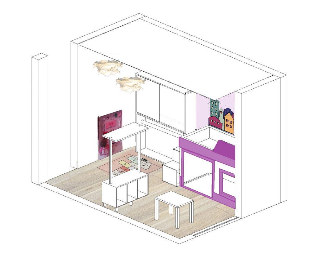 La cameretta si trasforma in una magica città - image vista3-copia-copia-1024x819 on http://www.designedoo.it