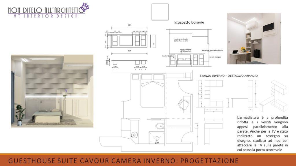 progettazione di interni della camera inverno