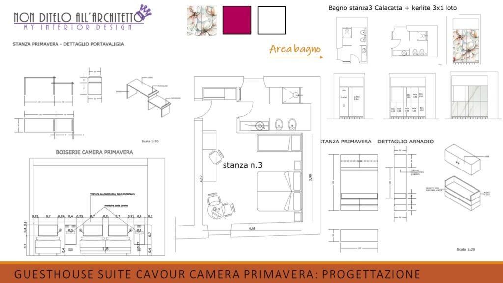 progettazione di interni della camera primavera