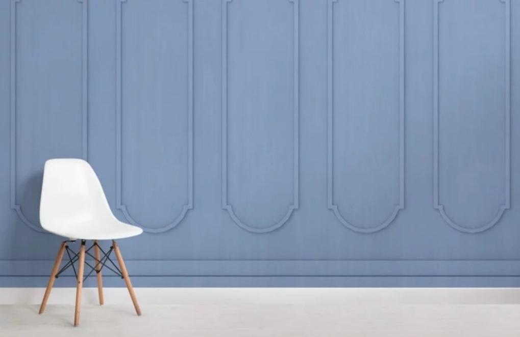 Arredare con la boiserie - image carta-da-parati-archi-blu-di-muralswallpaper on http://www.designedoo.it