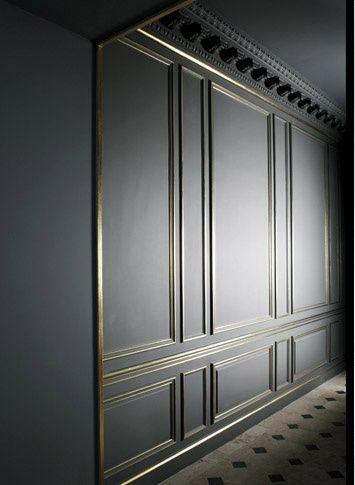 Arredare con la boiserie - image cornici-sul-muro-boiserie-contemporanee-20 on http://www.designedoo.it