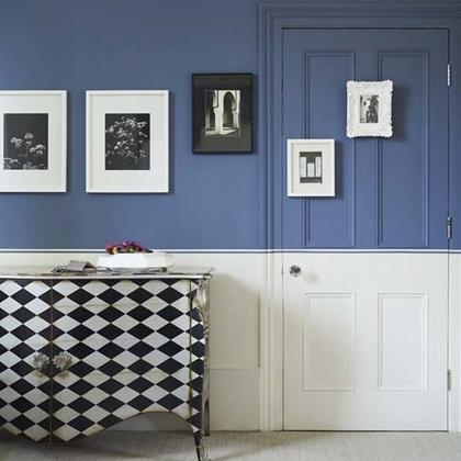Arredare con la boiserie - image dipinta-Half-painted-walls2 on http://www.designedoo.it