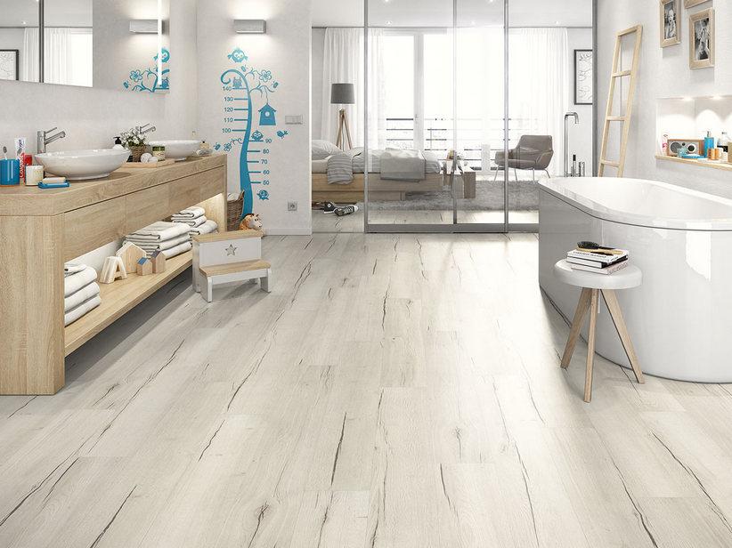 effetto legno bagno