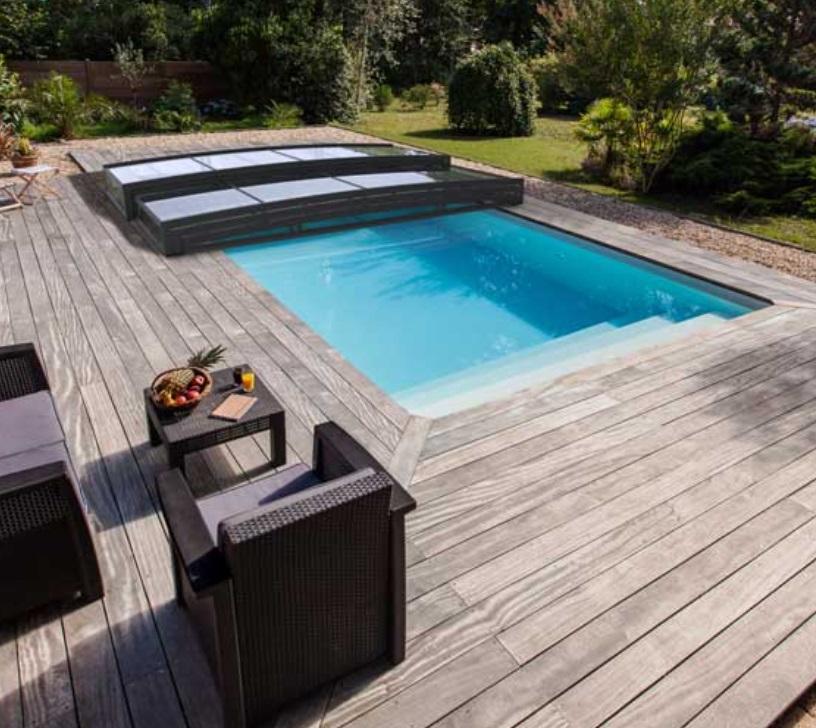 copertura per piscina telescopica