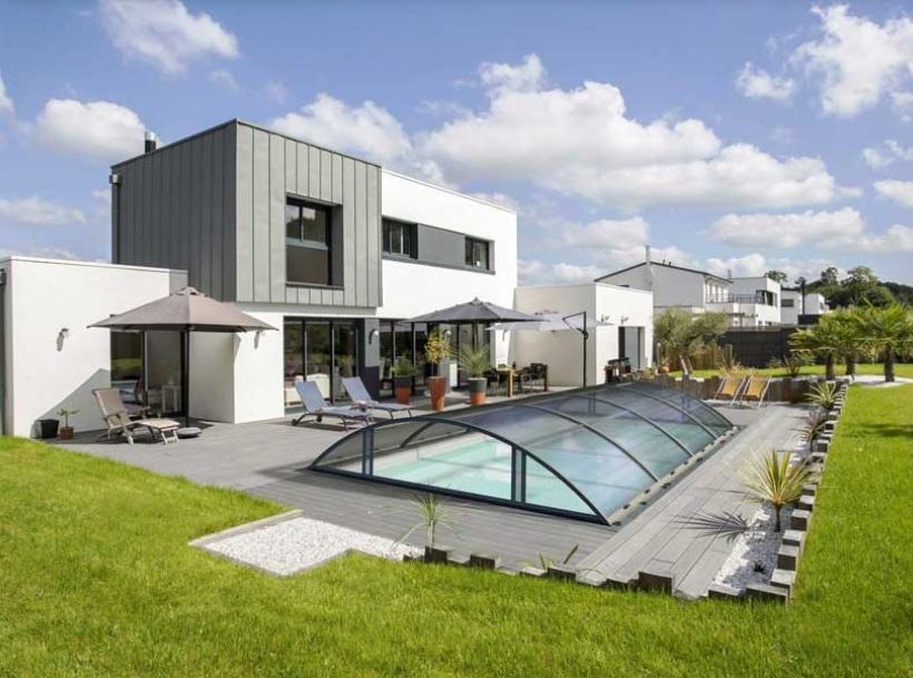 copertura per piscina amovibile