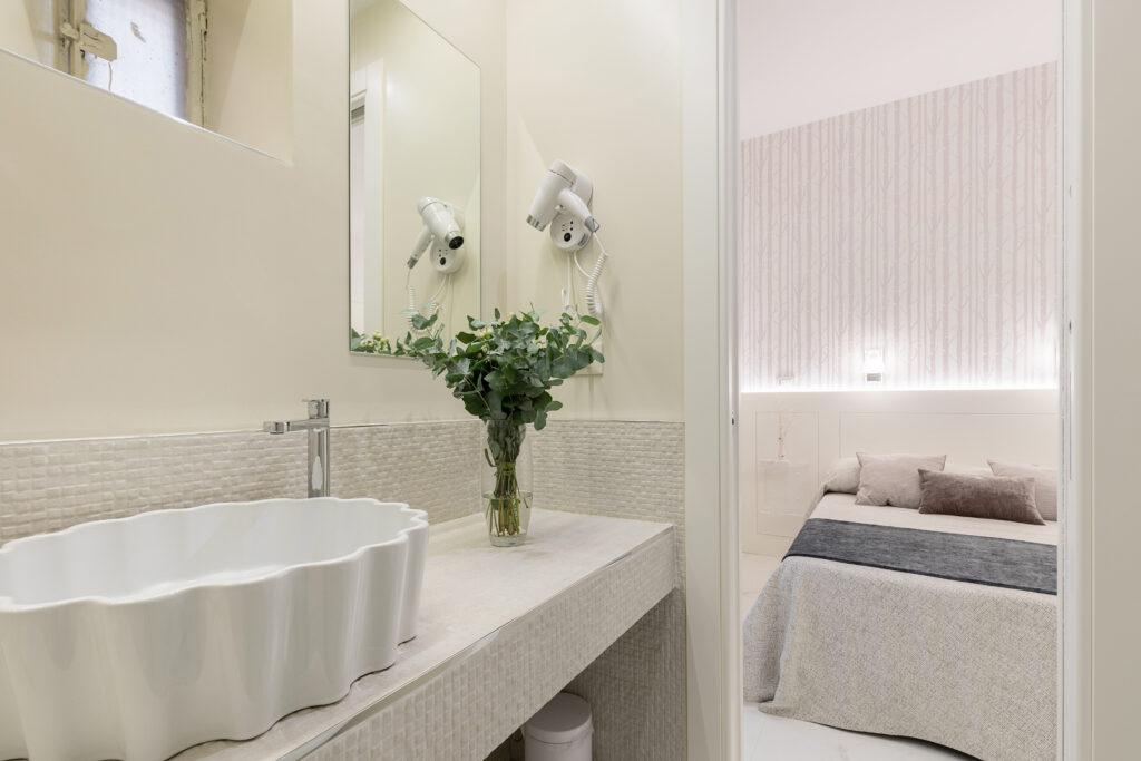 progettazione di interni bagno camera inverno