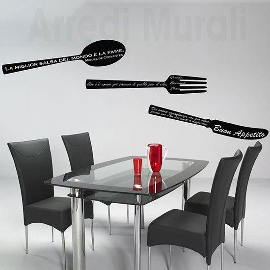 Passione decorazione: come gli adesivi murali possono donare carattere e personalità ad un ambiente - image Adesivi-murali-frasi-cucina-1 on http://www.designedoo.it