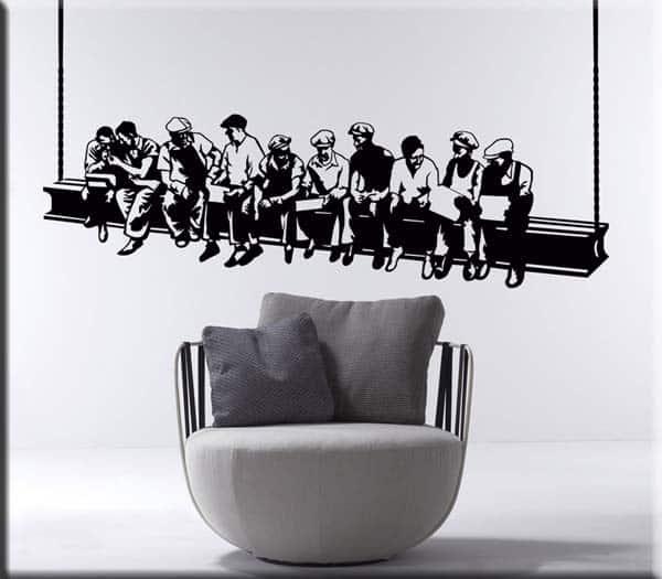 Passione decorazione: come gli adesivi murali possono donare carattere e personalità ad un ambiente - image Adesivi-murali-operai-Rockefeller-Center-lavoro on http://www.designedoo.it