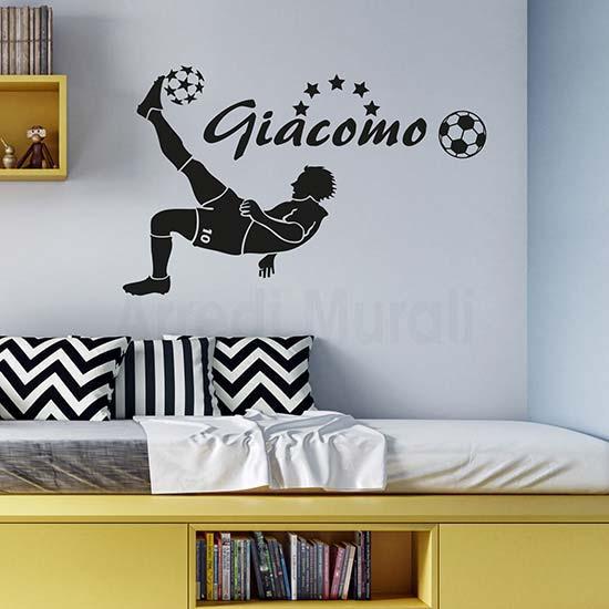 Passione decorazione: come gli adesivi murali possono donare carattere e personalità ad un ambiente - image adesivi-murali-calciatore-personalizzato on http://www.designedoo.it