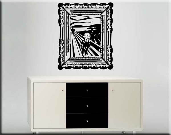 Passione decorazione: come gli adesivi murali possono donare carattere e personalità ad un ambiente - image adesivo-murale-Urlo-Munch on http://www.designedoo.it