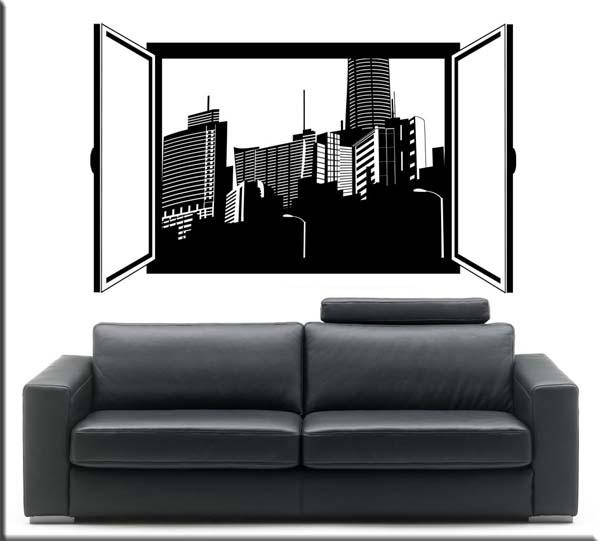 Passione decorazione: come gli adesivi murali possono donare carattere e personalità ad un ambiente - image adesivo-murale-finestra-aperta on http://www.designedoo.it