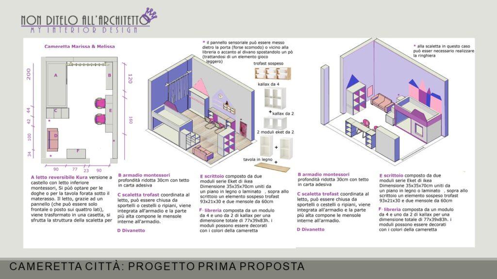 cameretta Montessori progetto 1