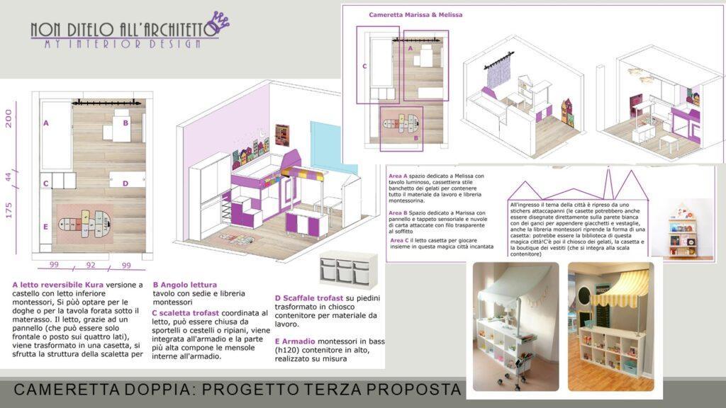 cameretta Montessori progetto 3
