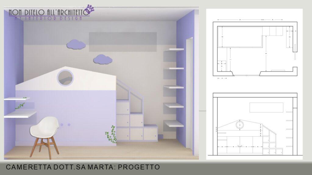 realizzazione di letto a soppalco con armadio