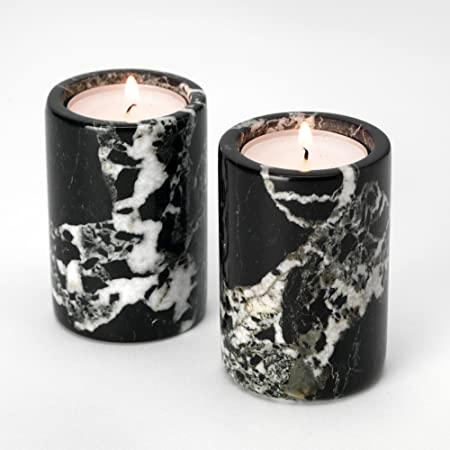 porta candele marmo