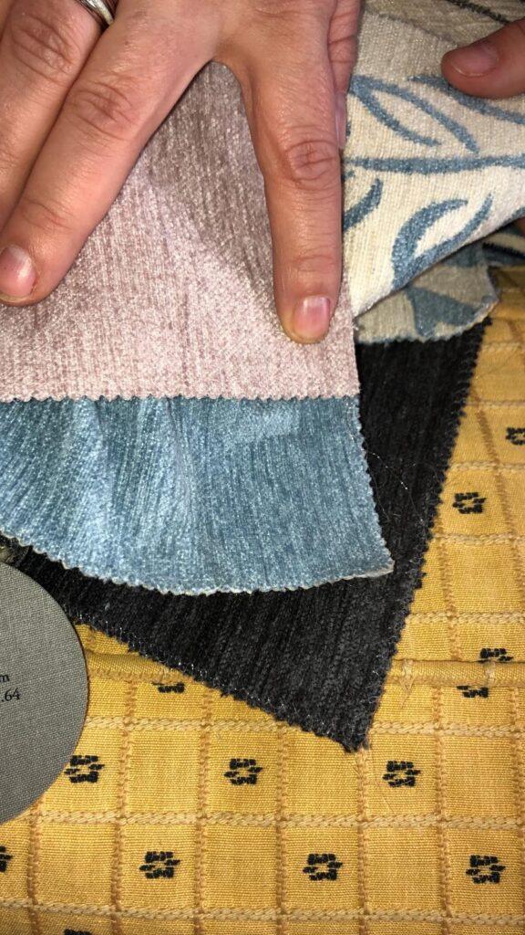 restauro arredi e scelta tessuti
