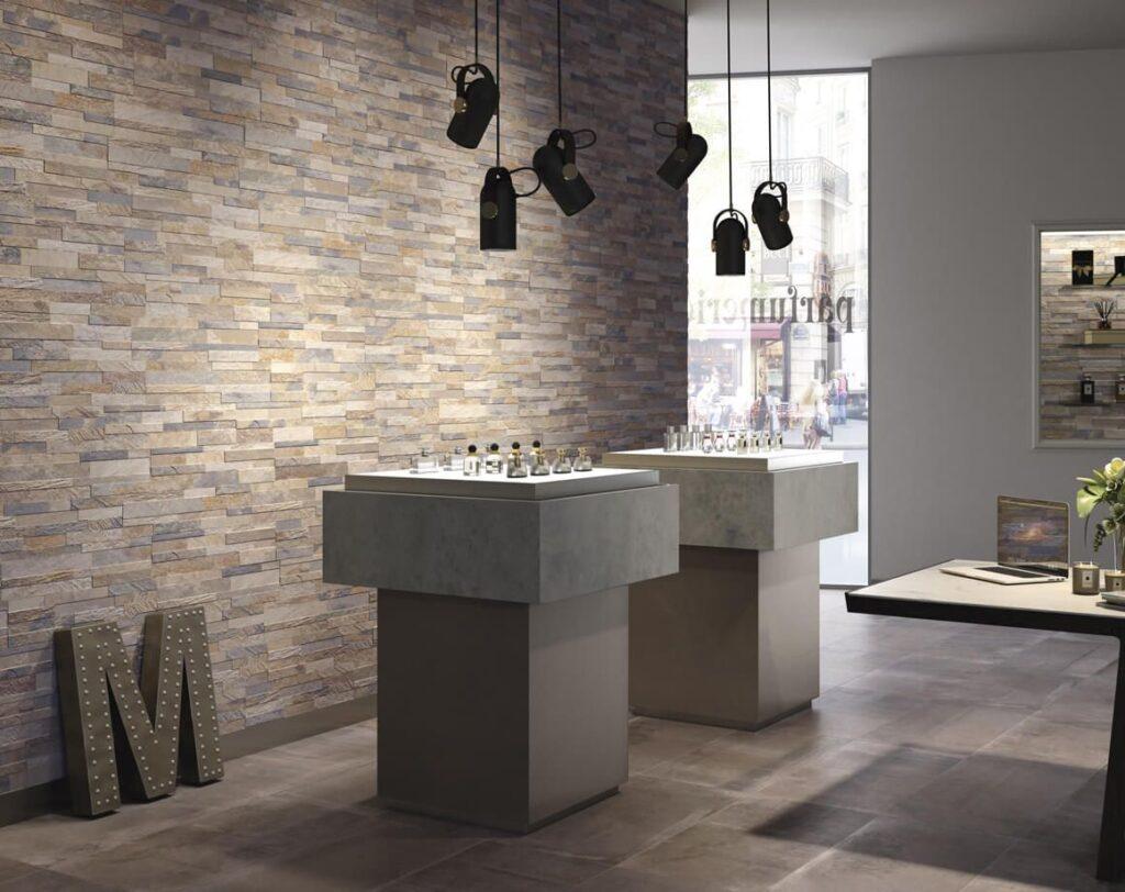 Requisiti e prestazioni dei rivestimenti in ceramica - image riv-cubics-beige-150x610_72-1024x812 on http://www.designedoo.it