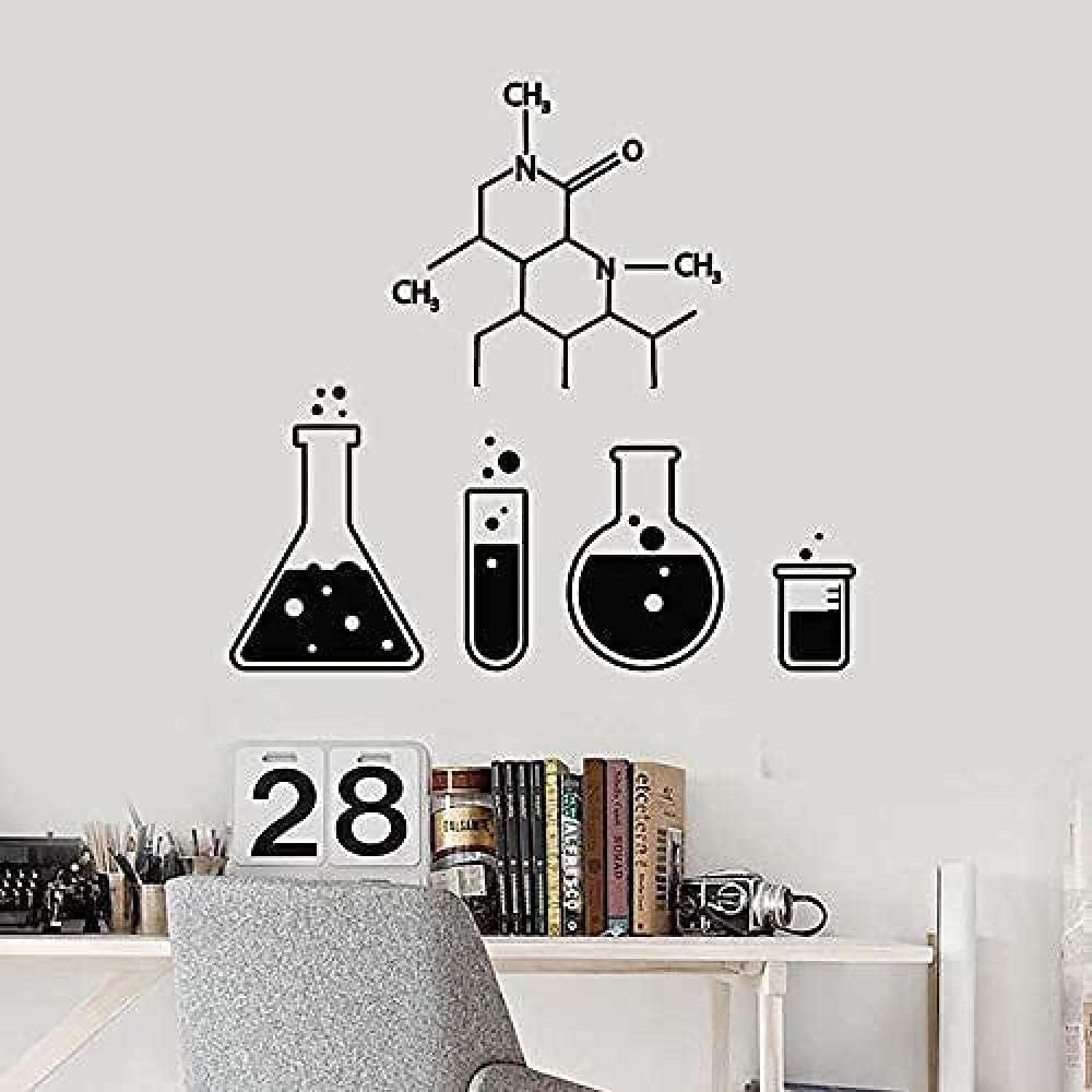 Design per bambini nel Museo dei diritti dell'infanzia - image amazon-Formula-chimica-Wall-Sticker-Scienza-Chimica-Vetreria-Provetta-Vinile-Decalcomania-Scuola-Laboratorio-Aula-Decorazione-Interni-Murale-42X44Cm on http://www.designedoo.it