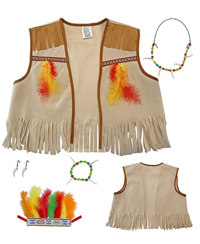 Design per bambini nel Museo dei diritti dell'infanzia - image amazon-WIDMANN-Indiano-Set-Travestimento-Gilet-Fascia-Per-Testa-Con-Piume-Orecchino-784- on http://www.designedoo.it